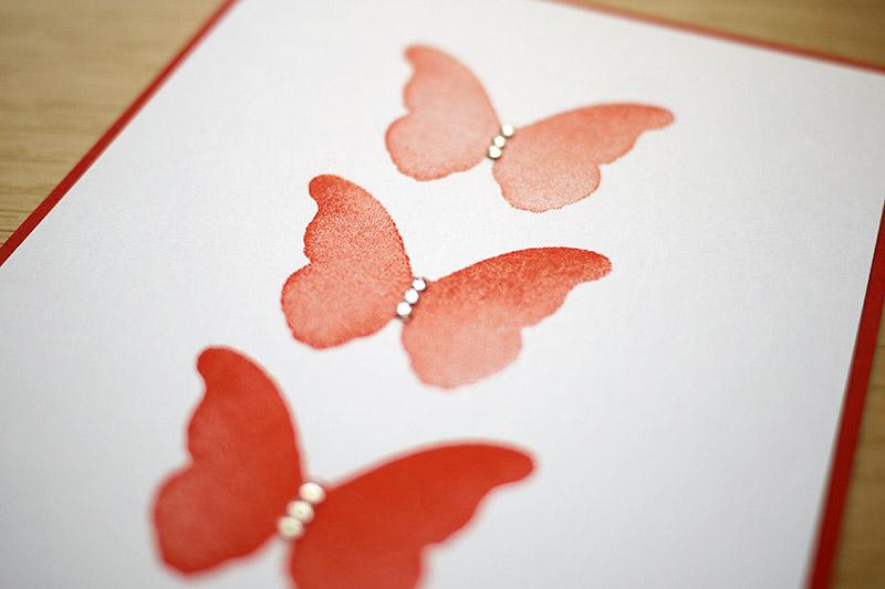Gestanzter Schmetterlings-Stempel – Techniques
