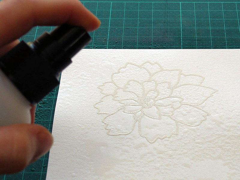 Karten-Kunst Techniques-Blog - Blitz-Colorieren #3