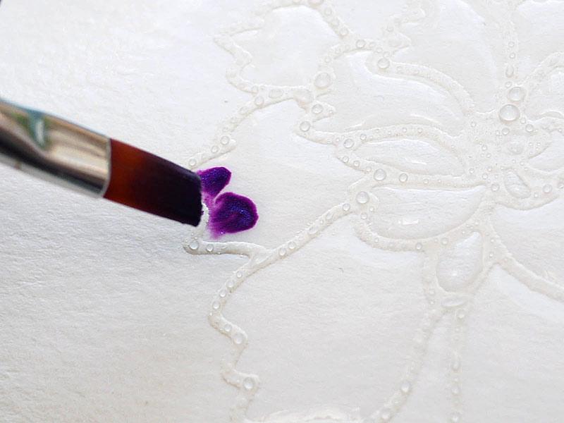 Karten-Kunst Techniques-Blog - Blitz-Colorieren #5